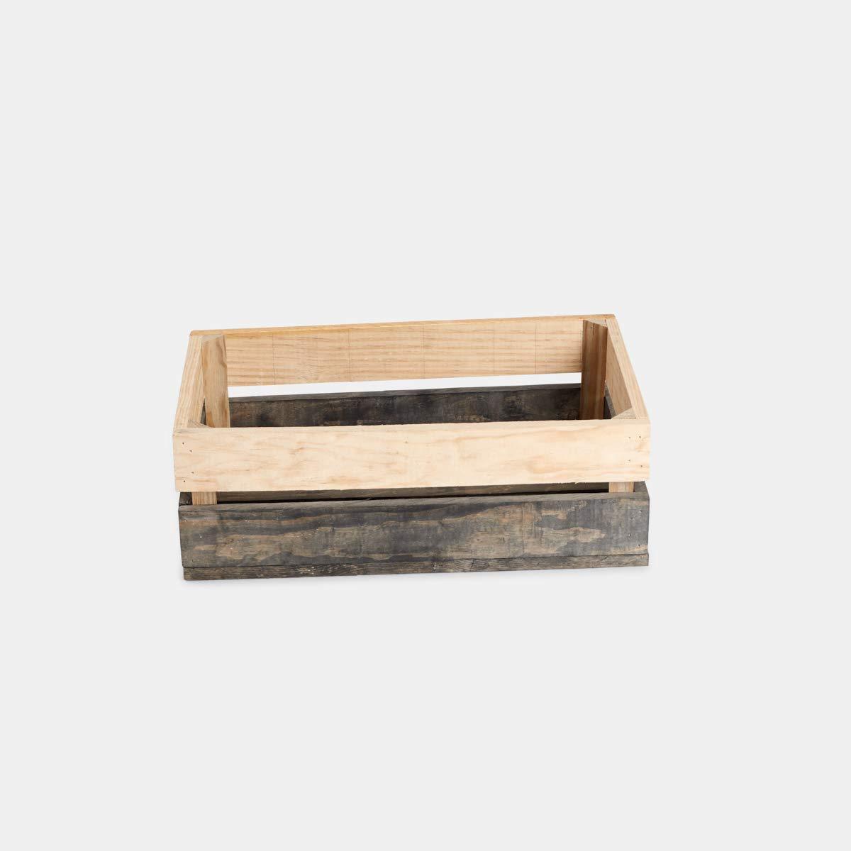 pack de 5cajas de madera pino 50x30x17: Amazon.es: Handmade