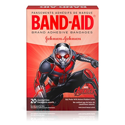 Band-Aid Brand Adhesive Bandages for Minor Cuts, Marvel Avengers Characters, Assorted Sizes, 20 ct -