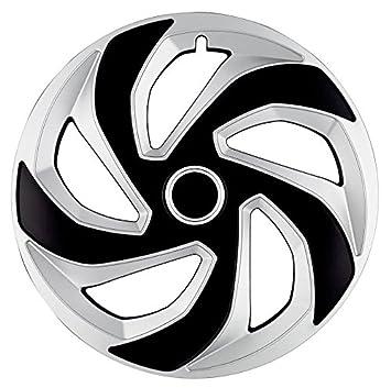 4 x Tapacubos Rex Anillo Mix 13 pulgadas Silver & Black Tapacubos Kia, Opel
