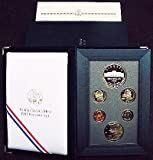 1997 US Mint Prestige Proof Set 6 Coins Including Botanic Garden Commemorative Dollars by US Mint