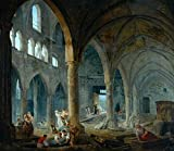 Cutler Miles The Dismantling Of The Church Of The Holy Innocents, Paris, 1785 by Hubert Robert Hand Painted Oil on Canvas Reproduction Wall Art. 30x24