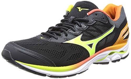44 Black Noir 21 Safetyyellow Wave Rider Osaka Mizuno Chaussures White Running Multicolore Homme de wfOxEvq