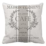 Emvency Throw Pillow Cover Grain Modern Vintage French Sac Decorative Pillow Case Home Decor Square 20 x 20 Inch Pillowcase
