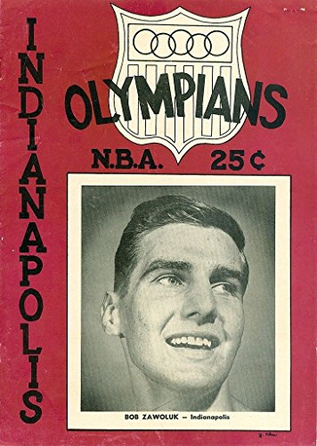 1952 Indianpolis Olympians signed Program (Olympian Bowl)