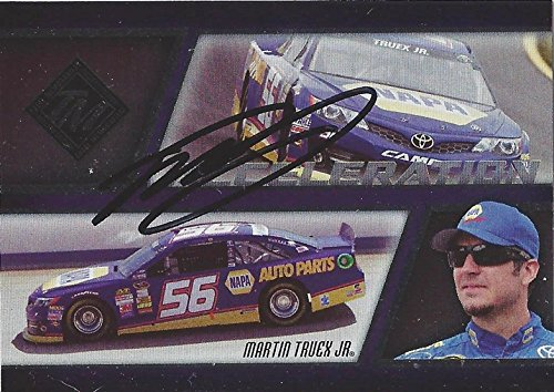 AUTOGRAPHED Martin Truex Jr. 2013 Press Pass Total Memorabilia Racing ACCELERATION INSERT (#56 NAPA Auto Parts Team) Signed Insert Collectible NASCAR Trading Card with COA