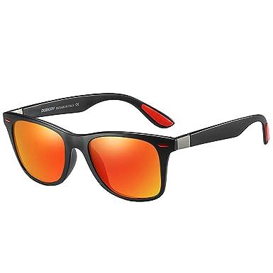 Gafas de sol para Hombre Retro Clásico Lentes cuadradas ...
