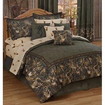 durable service Browning Oak Tree Buckmark Comforter Set (King)