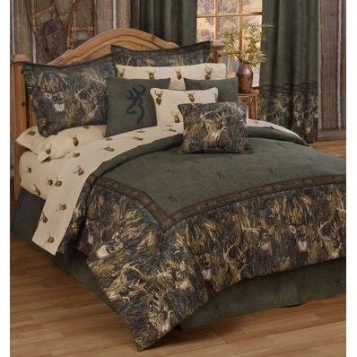 - Browning Unisex Whitetails Queen Comforter Set Multi One Size
