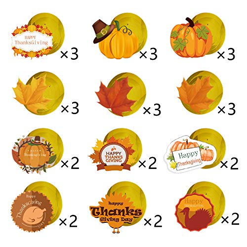 GOER 30 Pcs Thanksgiving Hanging Swirls for Thanksgiving Party Supplies Decorations