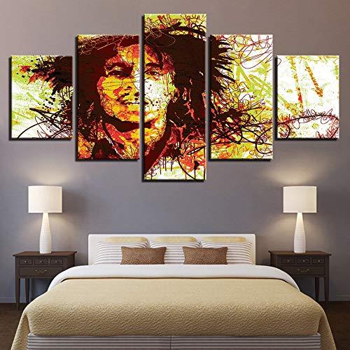 kkxdp Framed 5 Pieces Modern Canvas Poster