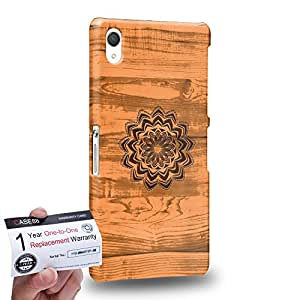 Case88 [Sony Xperia Z2] 3D impresa Carcasa/Funda dura para & Tarjeta de garantía - Art Print Kaleidoscope Wood Art