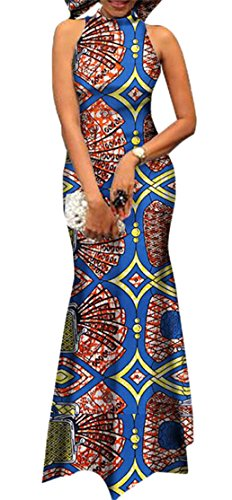 Dress Domple Bodycon African Women's Mermaid Cocktail Print Sexy 8 Dashiki 8wS8Hq
