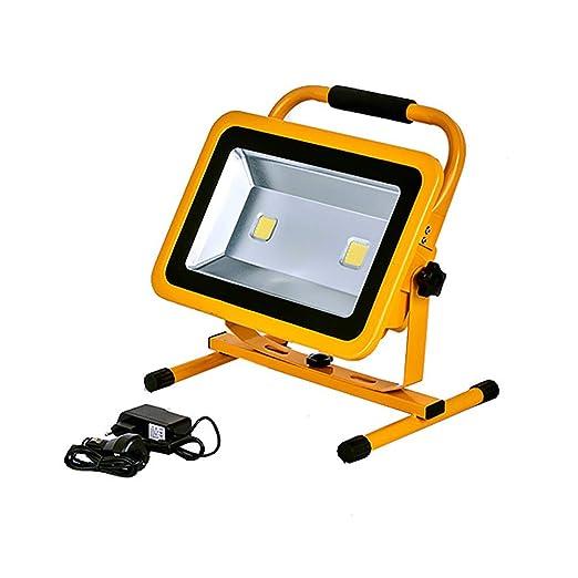 LED Proyector de construcción 100W 10000LM, COB * 2 Foco Proyector ...