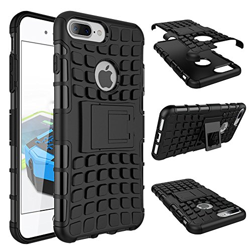 Price comparison product image Armor Case For Apple iPhone 7 PLUS Suntechor Heavy Duty Hybrid Protective Case Shockproof Hard Cover (Black)