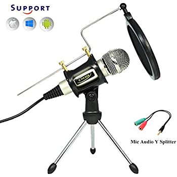 professional condenser microphone plug play home studio microphones for iphone. Black Bedroom Furniture Sets. Home Design Ideas