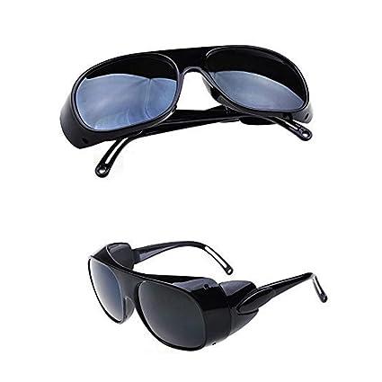 QPX Gafas de Soldador Gafas de Trabajo Gafas de protección láser (Negro)