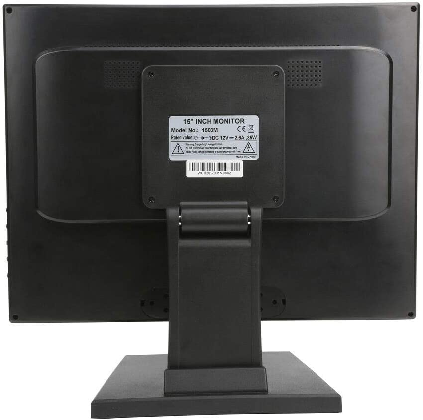 Touch-Screen Cash Register,17 inch Touch Screen POS TFT LED Touchscreen Monitor Desktop USB VGA System Control w//Adjustable POS Stand for Retail Restaurant Retail Bar Pub Kiosk Bar