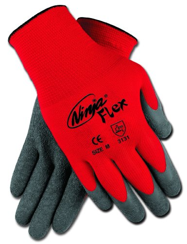 Safety Works CN9680L Gloves, 15 Gauge Red Nylon Shell with