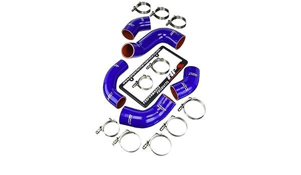 HPS (57 - 1227-blue) silicona Intercooler Turbo Hose Kit para Mitsubishi Lancer: Amazon.es: Coche y moto
