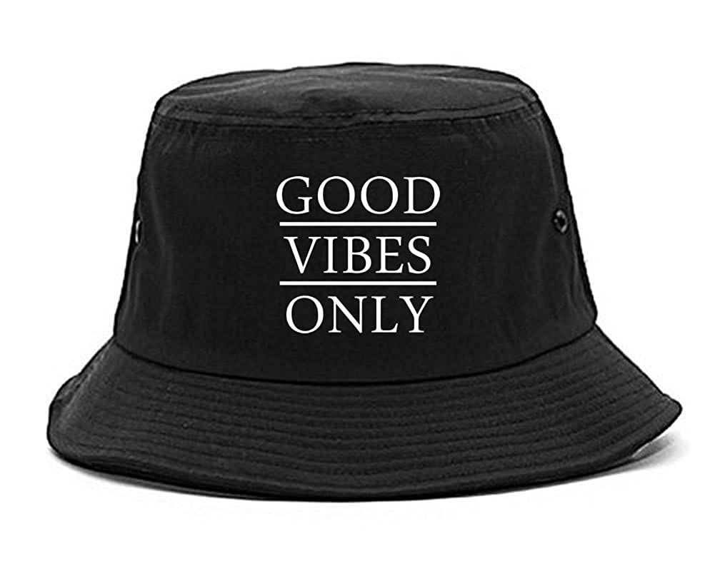 25827f8d830f0 Amazon.com  FASHIONISGREAT Good Vibes Only Womens Bucket Hat Black  Clothing