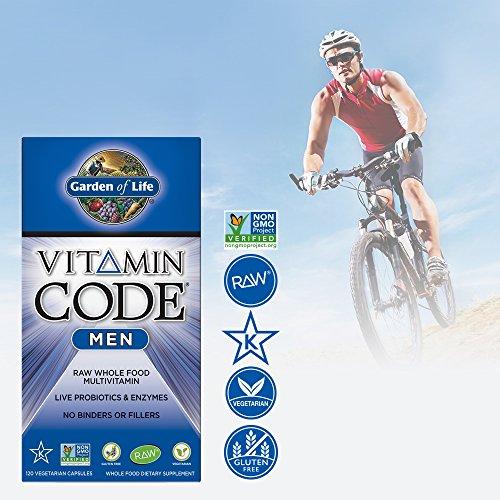 garden of life vitamin code men. garden of life multivitamin for men - vitamin code men\u0027s raw whole food supplement with probiotics, vegetarian, 120 capsules: amazon.ca: health