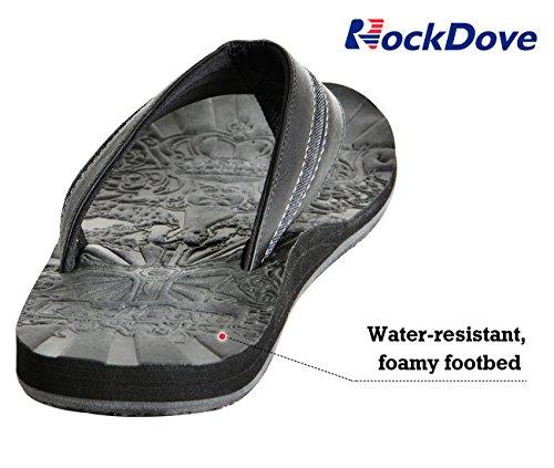 ... Rockdove Mens Vieja Havana Flip Flop Sandaler M / Fotbuestøtte Svart ...