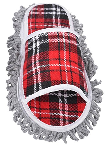 Simplicity Plaid Dusting/Mopping Microfiber Cleaning Slippers shoes TIGBGnDL6K
