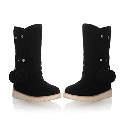 fab44a0d25cb8 Amazon.com: Hy Women's Boots Winter Suede Warm Windproof Snow Boots ...
