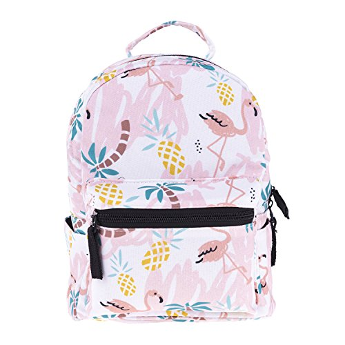 Cute 10 inch mini pack bag backpack for grils children and adult (Flamingos) ()