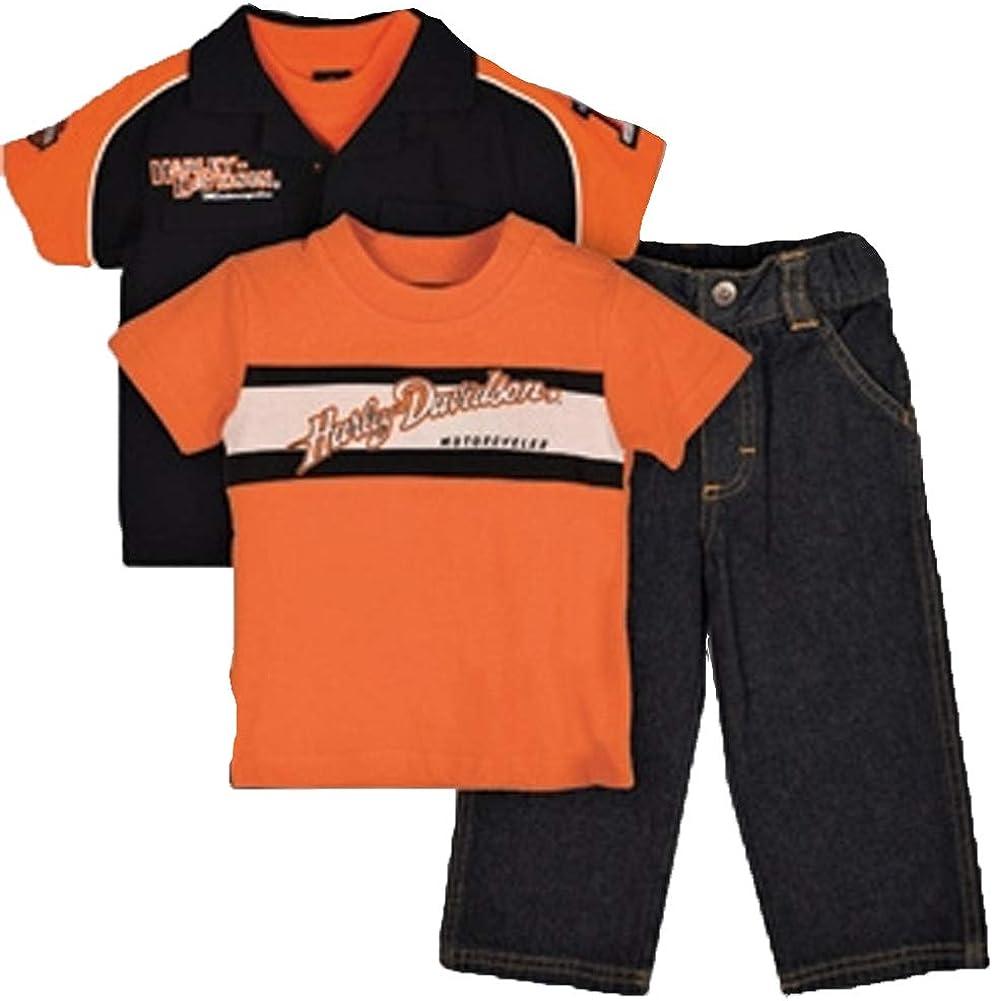 Kids Gift Set Harley-Davidson Toddler Girls Sweat Pants Jacket /& T-Shirt