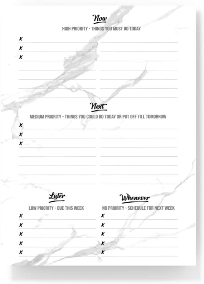 To Do List Notepad - Task To Do Pad Planner Daily/Weekly To-Do List Note Pad - Memo Pad -Paper Checklist Notepad Tear Off Reminder for Desk/Office/Work