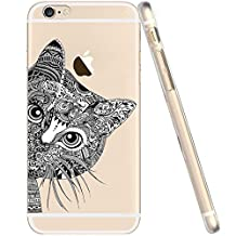 IPhone 6s Case,IPhone 6 Case, LUOLNH Funny fashion creative design black cat TPU Silicone Skin Case Cover Phone Case Case Bumper for Apple iPhone 6 6s (4.7 inch)