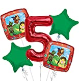 Wonder Pets Balloon Bouquet 5th Birthday 5 pcs - Party Supplies