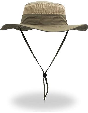 4ef9ad3b686e4 EONPOW Windproof Fishing Hats UPF50+ UV Protection Sun Cap Outdoor Bucket  Mesh Hat 56-61cm