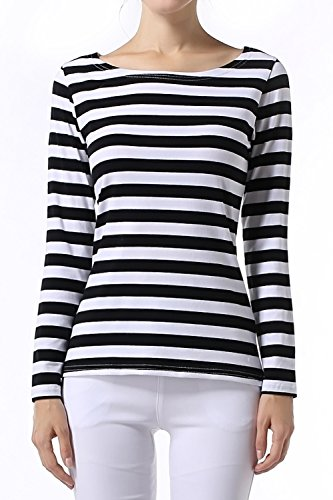 Black White Striped Shirt: Amazon.com