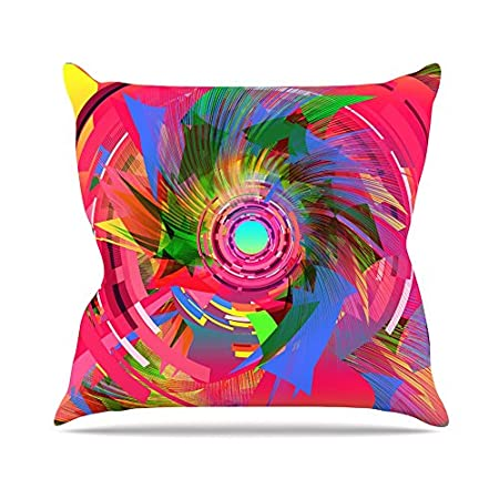 20 by 20 Kess InHouse Danny Ivan Fun Hole Throw Pillow Pink Multicolor