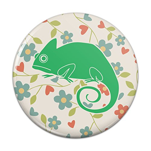 Chameleon Floral Wallpaper Pinback Button Pin Badge - 3