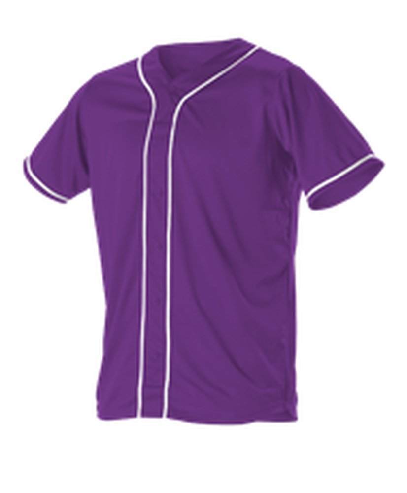Alleson Athletic SHIRT ボーイズ B075NRY4NY 3X|Purple, White Purple, White 3X