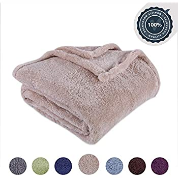 Berkshire Blanket Original Extra-Fluffy Bed Blanket, King, Oyster