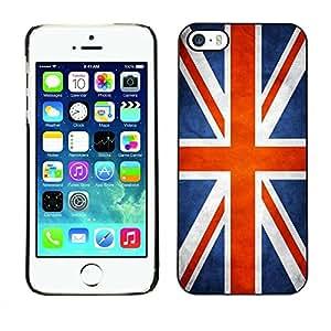 PC/Aluminum Funda Carcasa protectora para Apple Iphone 5 / 5S National Flag Nation Country Great Britain UK / JUSTGO PHONE PROTECTOR