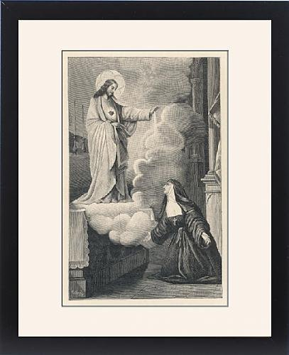 Framed Print Of Alacoque s Vision 1675 by Prints Prints Prints