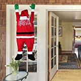 LAOSSC-Outdoor Decor Santa Hanging From Gutter - Outdoor Christmas Decoration Yard decorations Santa Suit 65 Inches