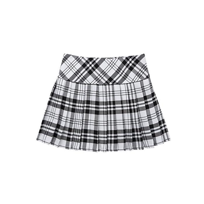 51YK94MCMDL La falda está hecha de poliéster y material de algodón, lavado a mano. Tabla de tallas significa rangos de edad para niñas, pero solo son orientativos. Poliéster algodón