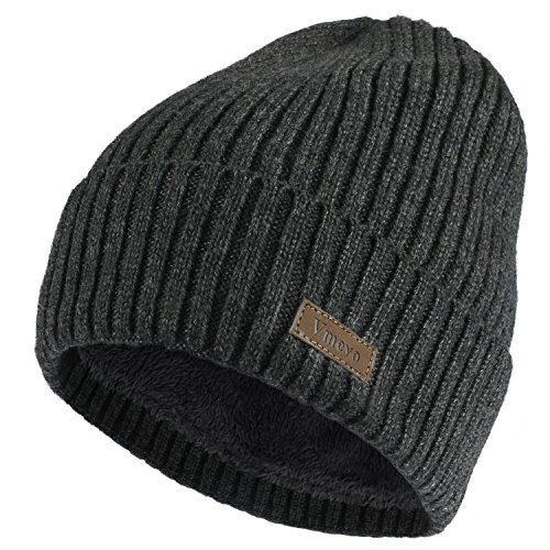Vmevo Wool Cuffed Plain Beanie Warm Winter Knit Hats Unisex Watch Cap Skull Cap (Cuffed Knit Beanie Cap)