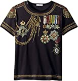 Dolce & Gabbana Kids  Baby Boy's Medallion T-Shirt (Toddler/Little Kids) Black 4T