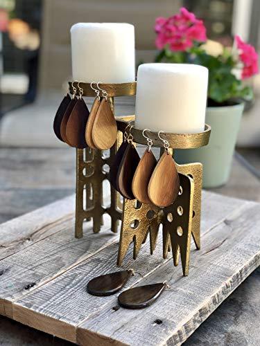 Handmade Texas Ebony Wood Earrings