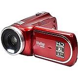 Vivitar DVR 960HD 1080p HD 12x Optical Zoom Video Camera Camcorder (Red) 32GB Card + Battery + Case + LED Light + Tripod Kit
