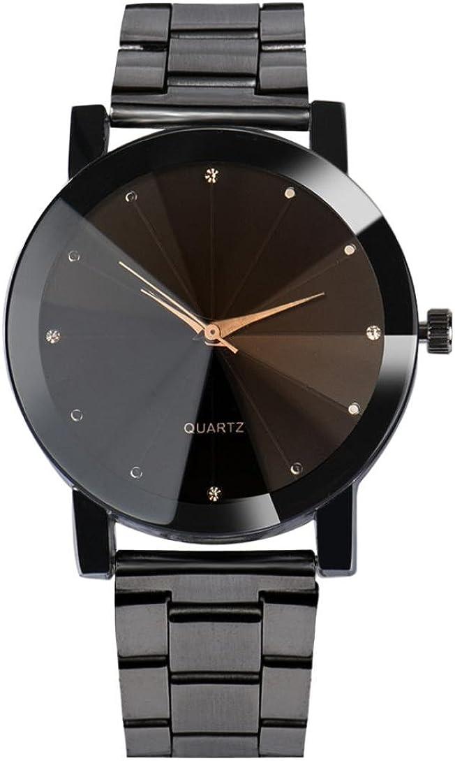 Auwer Watch Luxury Quartz Crystal Sport Stainless Steel Wrist Watch Men