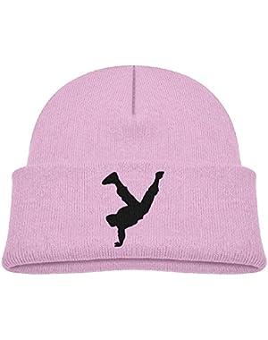 Kids Funny Hip Hop Dance Breaking Silhouette Casual Flexible Winter Knit Hats/Ski Cap/Beanie/Skully Hat Cap