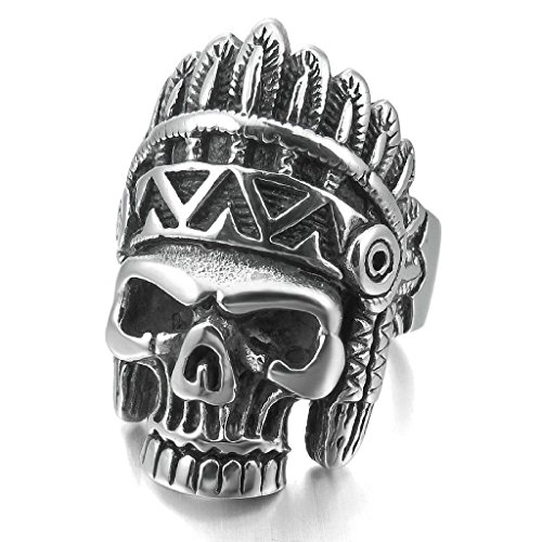 epinkifashion-jewelry-mens-large-heavy-stainless-steel-rings-silver-black-native-american-indian-sku
